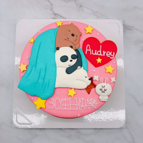 熊熊遇見你生日蛋糕推薦,胖達/阿極造型蛋糕宅配