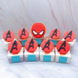 英雄系列杯子蛋糕推薦,蜘蛛人杯子蛋糕手作分享