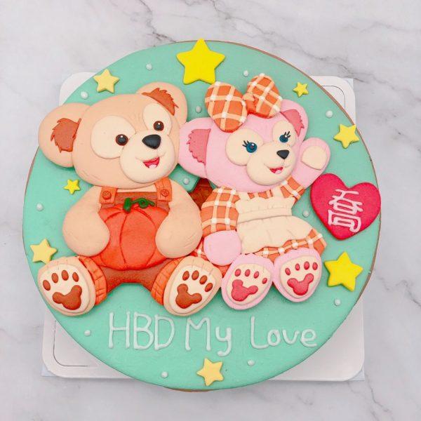 達菲熊生日蛋糕推薦,雪莉玫造型蛋糕宅配分享