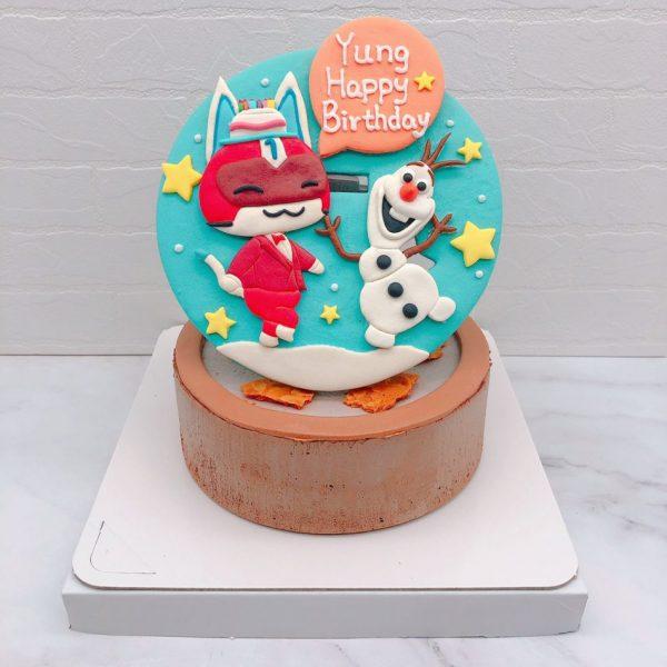 動物森友會阿一造型蛋糕推薦,雪寶生日蛋糕作品分享