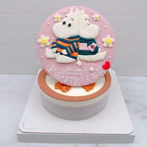嚕嚕米生日蛋糕推薦,Moomin卡通造型蛋糕作品分享