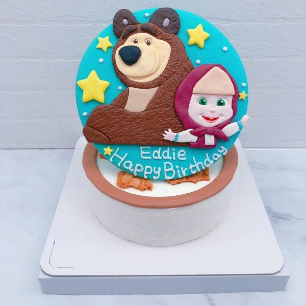 瑪莎與熊生日蛋糕推薦,卡通造型生日蛋糕宅配