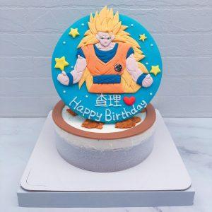 超級賽亞人3生日蛋糕推薦,七龍珠悟空造型蛋糕宅配