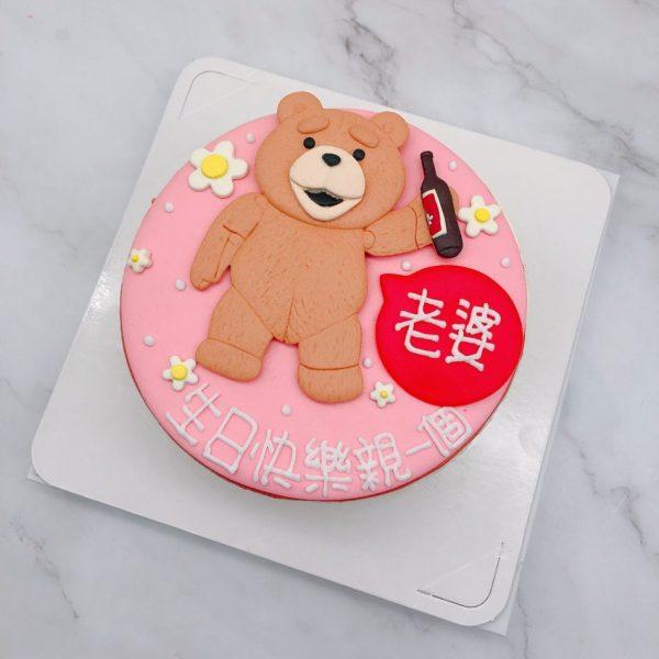熊麻吉生日蛋糕推薦,客製化造型生日蛋糕宅配