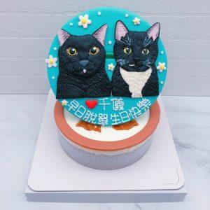 貓咪造型蛋糕推薦,台北寵物客製化生日蛋糕宅配