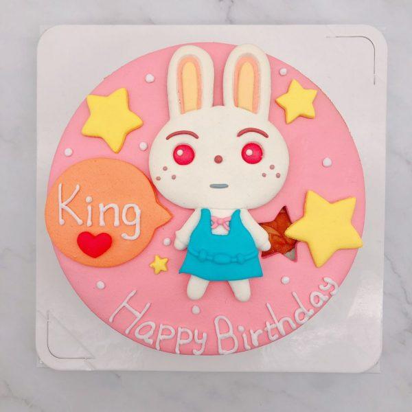 動物森友會造型蛋糕推薦,月兔生日蛋糕作品分享