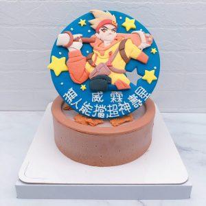 傳說對決造型蛋糕推薦,悟空生日蛋糕宅配作品分享
