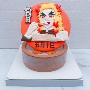 鬼滅之刃造型蛋糕推薦,炎柱煉獄杏壽郎生日蛋糕宅配