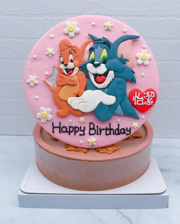 湯姆貓與傑利生日蛋糕推薦,台北卡通造型蛋糕宅配