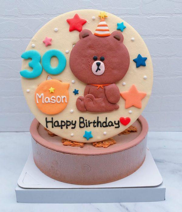 熊大造型蛋糕推薦,客製化生日蛋糕作品分享