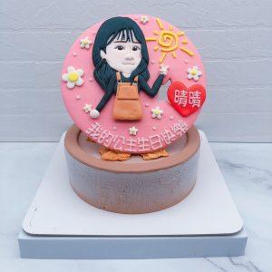客製化Q版人像造型蛋糕推薦,人像照片生日蛋糕宅配