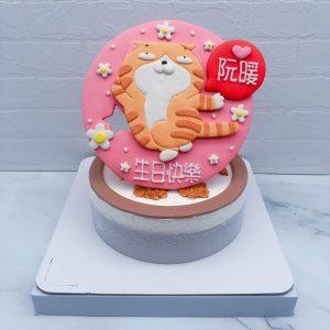 台北白爛貓生日蛋糕手作推薦,客製化造型蛋糕作品分享