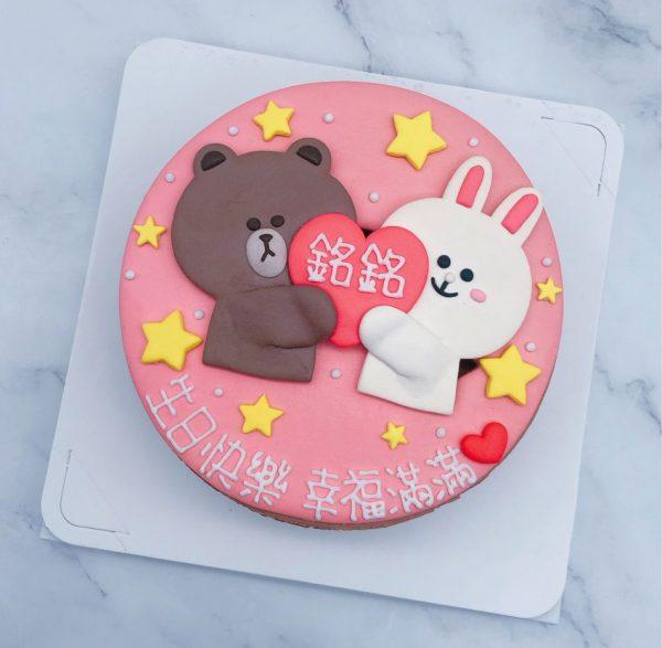 台北熊大造型蛋糕推薦,兔兔生日蛋糕作品分享