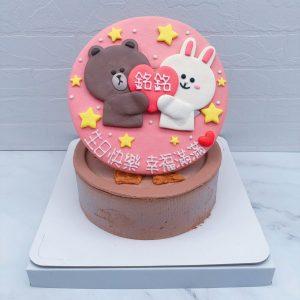 超可愛的熊大應該是很多人都有的貼圖吧~~快幫喜歡他的朋友訂製一顆專屬造型蛋糕吧! 大家有喜歡的其他角色,也都歡迎私訊我們唷~