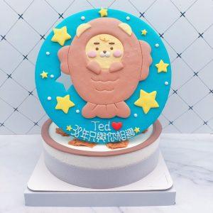 Ryan萊恩造型蛋糕手作推薦,鯛魚燒生日蛋糕宅配分享