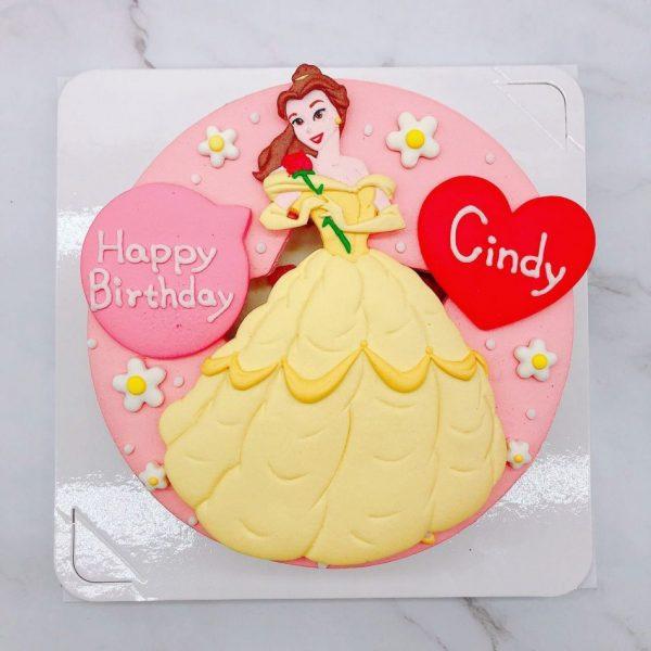 美女與野獸造型蛋糕推薦,貝兒公主生日蛋糕宅配分享