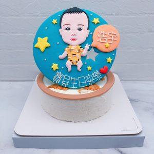客製化Q版人像造型蛋糕推薦,照片生日蛋糕宅配分享