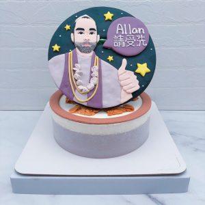 Q版人像生日蛋糕推薦, Ku's dream酷的夢造型蛋糕手作分享