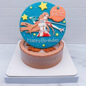 刀劍神域生日蛋糕推薦,亞絲娜造型蛋糕宅配分享