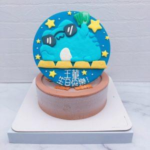 咖波造型蛋糕作品分享,Capoo客製化生日蛋糕推薦