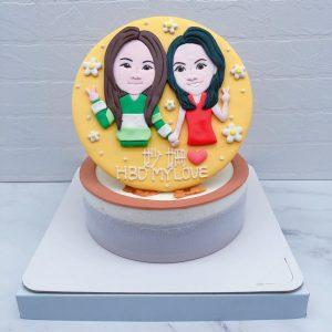Q版人像生日蛋糕推薦,雙人像造型蛋糕宅配分享