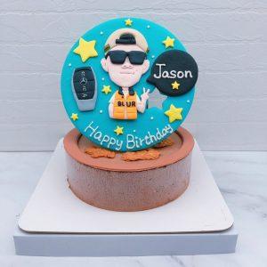 男生Q版人像造型蛋糕推薦,客製化相片生日蛋糕宅配