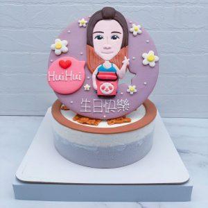 Q版女孩人像生日蛋糕推薦,台北客製化造型蛋糕宅配