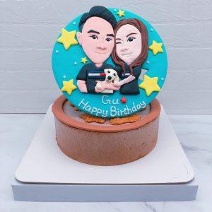 Q版雙人像生日蛋糕推薦,客製化造型蛋糕宅配分享