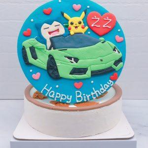 寶可夢皮卡丘造型蛋糕推薦,卡比獸開跑車生日蛋糕