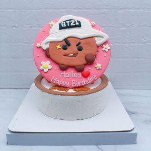 BT21生日蛋糕推薦,SHOOKY客製化造型蛋糕宅配