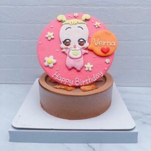 小魔女DoReMi造型蛋糕推薦,小花客製化生日蛋糕作品分享