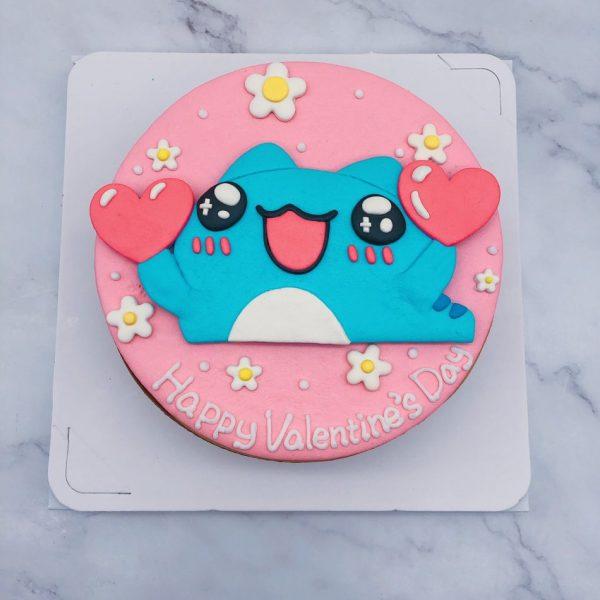 超可愛咖波造型蛋糕作品分享,Capoo拿愛心生日蛋糕推薦