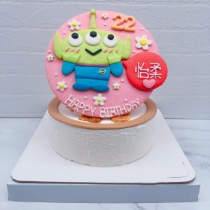 超可愛三眼怪客製化造型蛋糕推薦,玩具總動員生日蛋糕宅配