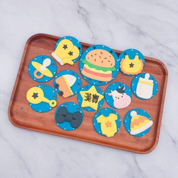漢堡收涎餅乾作品推薦,客製化收涎餅乾宅配分享