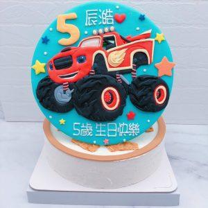 旋風戰車隊飆速造型蛋糕推薦,卡通客製化生日蛋糕宅配