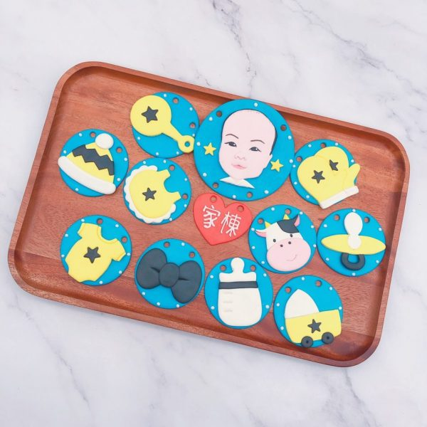 台北寶寶人像收涎餅乾推薦,超可愛客製化收涎餅乾宅配