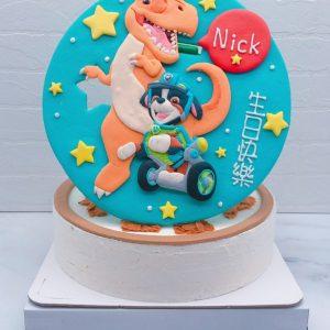 汪汪隊立大功灰灰造型蛋糕,恐龍卡通造型蛋糕宅配