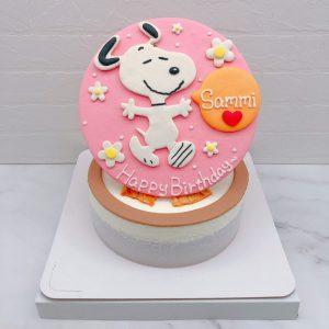 超可愛史努比生日蛋糕推薦,卡通造型蛋糕作品分享
