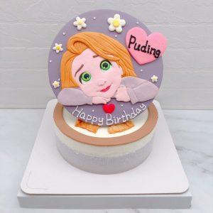 Q版長髮公主造型蛋糕推薦,Rapunzel生日蛋糕宅配分享
