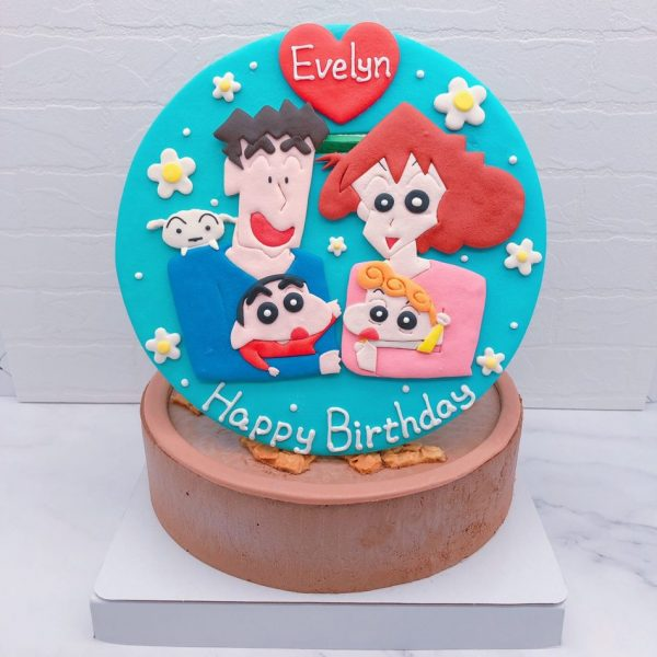 蠟筆小新生日蛋糕推薦,小新一家人造型蛋糕宅配