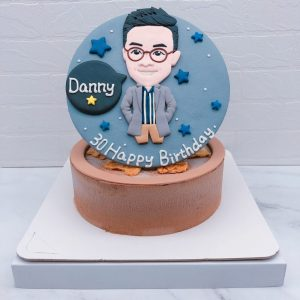 Q版男生人像造型蛋糕推薦,人像照片生日蛋糕宅配