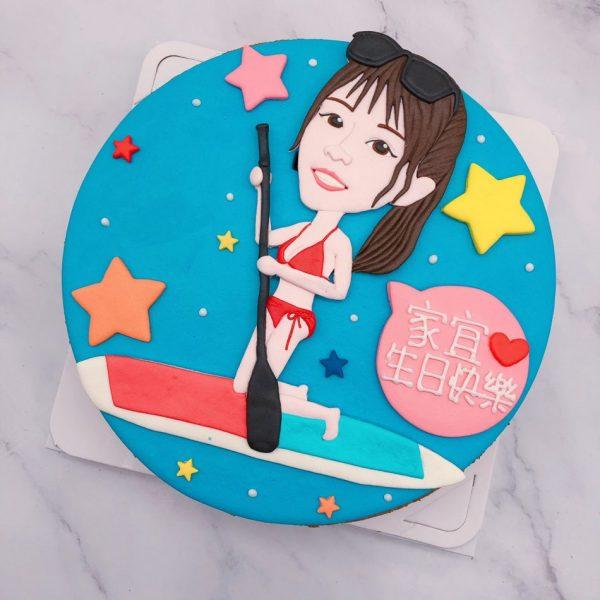 女生人像造型蛋糕推薦,Q版人像照片生日蛋糕宅配