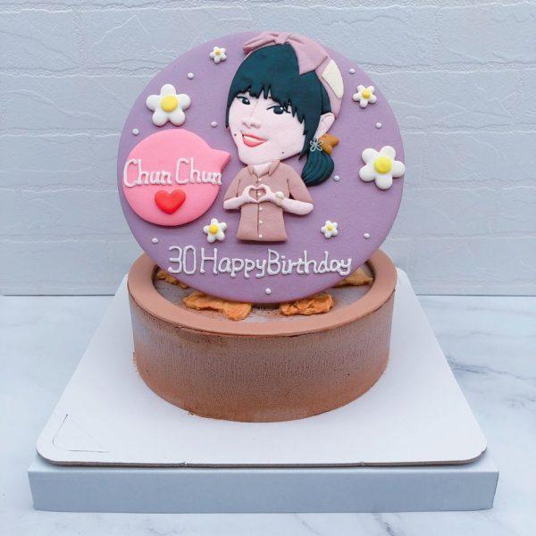 Q版人像造型蛋糕推薦,客製化人像相片生日蛋糕宅配