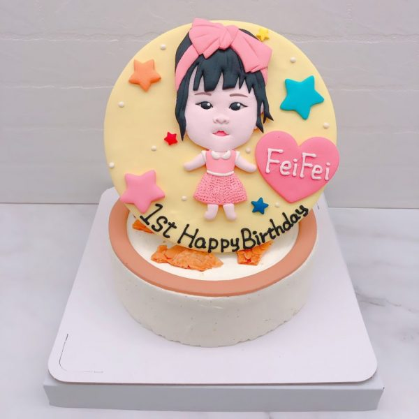 Q版人像生日蛋糕推薦,寶寶照片造型蛋糕作品分享