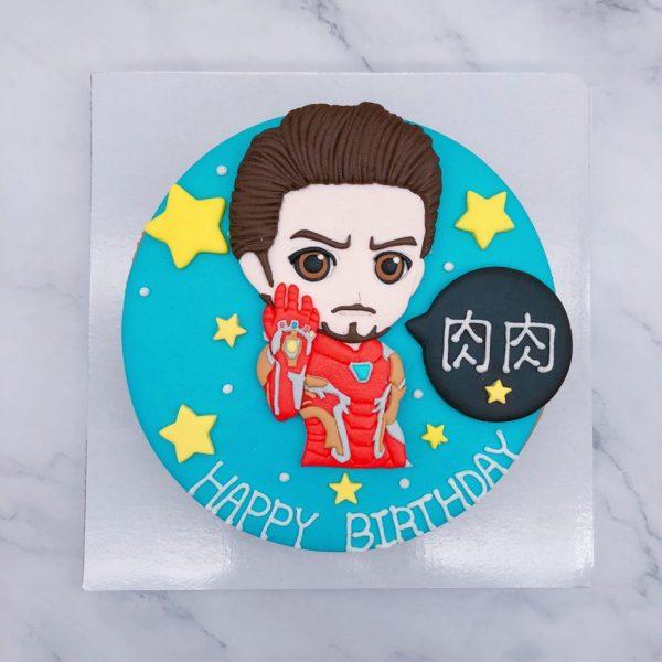Q版鋼鐵人造型蛋糕推薦,漫威英雄鋼鐵人生日蛋糕宅配