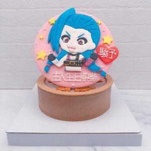 Q版吉茵珂絲造型蛋糕推薦,英雄聯盟生日蛋糕宅配