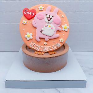 卡娜赫拉粉紅兔兔生日蛋糕推薦,P助造型蛋糕作品分享