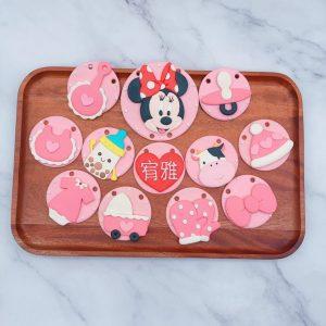 米妮收涎餅乾作品分享,小baby客製化收涎餅乾