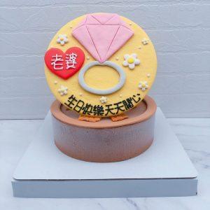 Q版戒指造型蛋糕推薦,客製化生日蛋糕宅配