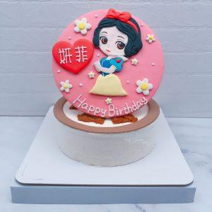 Q版白雪公主造型蛋糕推薦,客製化公主生日蛋糕宅配